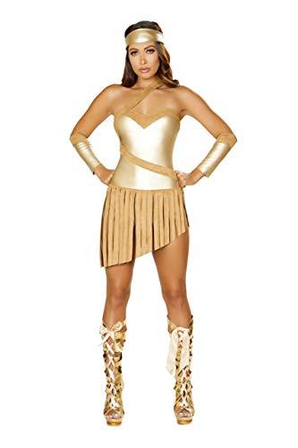 Roma Costume 3pc Golden Goddess, Gold/Honey, Medium -