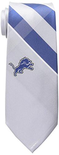 NFL Detroit Lions Men's Woven Polyester Grid Necktie, One Size, Multicolor