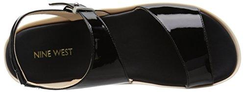 Nine West Izara sintético vestido de la sandalia Black