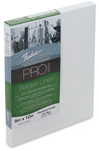 (Fredrix Pro Belgian Linen Pre-Stretched Canvas 11 in. x 14 in.)