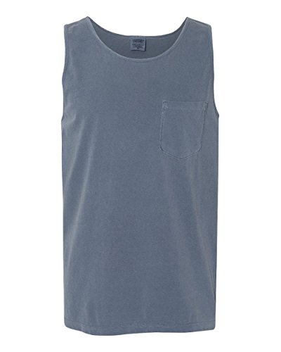 Comfort Colors - Garment Dyed Tank with a Pocket - 9330 (With Tank Tops Mens Pocket)