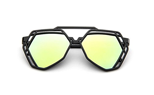 Dorado DaoRier Gafas talla sol de Gemstone Shape colorido única 8Rqxa7