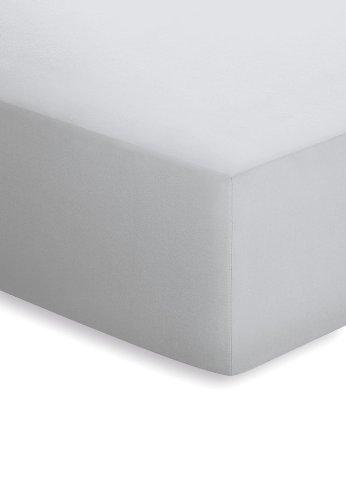 lenzuola singolo singolo con angoli 140 cm x 200 cm Silber Argento schlafgut