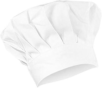Cupcinu Koksmuts verstelbaar met elastiek keukenhoed verstelbaar van katoen voor kinderen en volwassenen