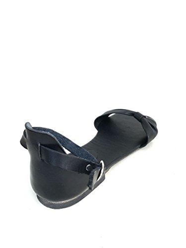 Tacco Sandali Pelle Donna In Shoes Nero Fiocco Basso Cinturino Mainapps Giallo Zeta 8SwX5xH