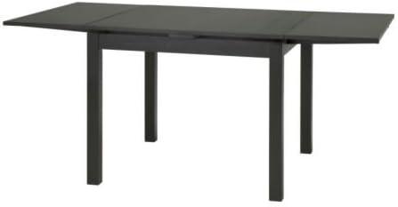 Ikea Bjursta Table A Rallonge En Braunschwarz 90 129 168 X 90 Cm Amazon Fr Cuisine Maison