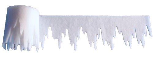 Eiszapfen aus Schneevlies 500 x 30 cm, ca. 3mm dick, 2er Pack, Gesamtlänge: 10 m (EUR 2,24/m),schwer entflammbar DIN 4102 B1, Dekoschnee