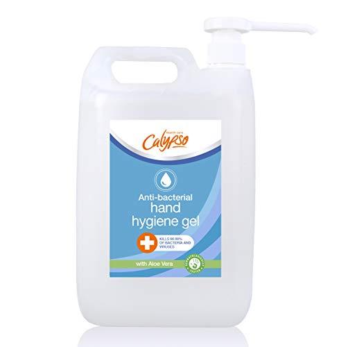 Calypso Hand Sanitiser Gel Anti-Bacterial with Aloe Vera, 70% alcohol | Kills 99.99% of bacteria, Germs and viruses…