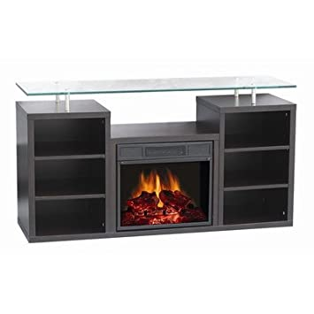 Manhattan 51 Tv Stand With Electric Fireplace Amazon Co Uk
