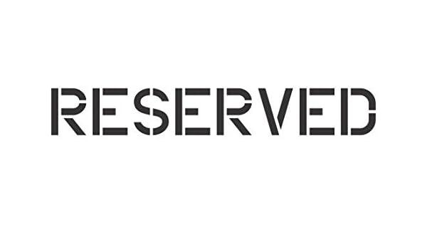 Plantilla de Cartel Reservado - 30 cm - 60 mil: Amazon.es ...