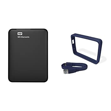 WD Elements - Disco duro externo portátil de 1 TB con USB 3.0, color negro: Amazon.es: Informática