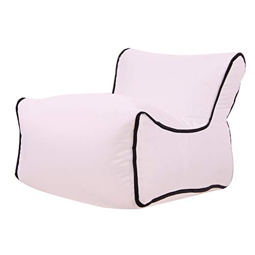 (Belloc Bean Bag Inflatable Air Lounger Lazy Couch Chair Sofa Bags Camping Travel Outdoor Party (White))