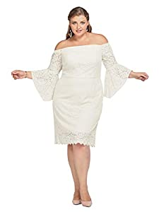Alicepub Lace Wedding Dress Plus Size Short Formal Gown Party Cocktail Dresses with Sleeve