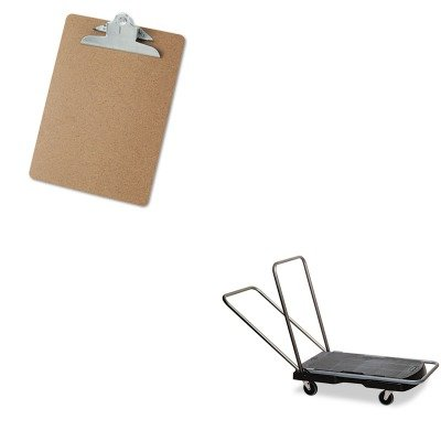 KITRCP440000UNV40304 - Value Kit - Rubbermaid Utility-Duty Home/Office Cart (RCP440000) and Universal 40304 Letter Size Clipboards (UNV40304)