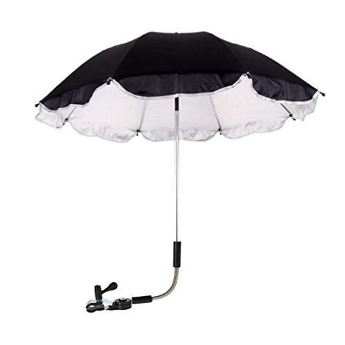 - Hatoys Stroller Weather Shield Stroller Cover Parasol for Sun Rain Protection UV Rays Outdoor Umbrella (Black)