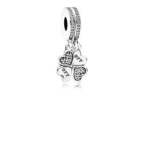 Pandora Sterling Silver Best Friends Forever Dangle Charm 791949CZ