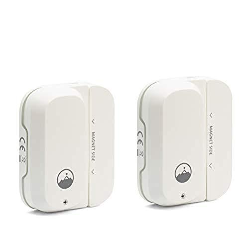 Fox&Summit FS-WDS100 Door and Window Sensor, WiFi Enabled Battery Operated Smart Sensor, Security Door Sensor, No Hub Required [2 PK]
