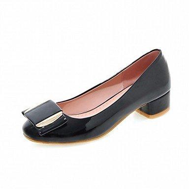 Cómodo y elegante soporte de zapatos de tacón para mujer primavera verano otoño invierno comodidad novedad pu piel sintética boda oficina y carrera partido y vestido de noche Casual Chunky talón gris
