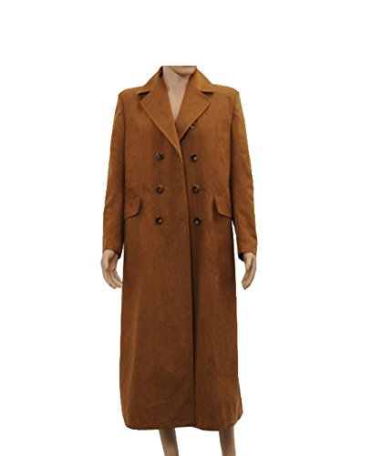 O-O Cosplay Brown Long Trench Coat Jacket Cosplay Costume (The 9th Doctor Costume)