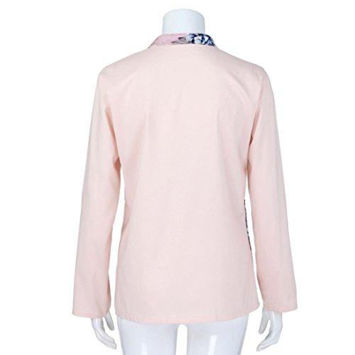 Shirt ABCone con a Donna Stampa T Felpa V Pullover Scollo pi naIWap