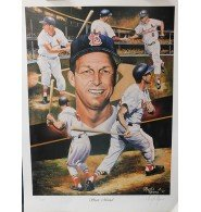 Signed Musial, Stan (St. Louis Cardinals) Stan Musial Lithograph. This lithograph is by the artist Angelo Marino and it's signed by Angelo Marino also. These are Limited Editio autographed