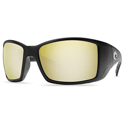 Costa Del Mar BL11OSSGLP Blackfin Sunrise Silver Mirror 580G Matte Black Frame Sunglasses, Large