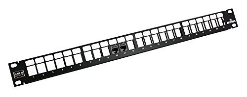 Leviton 69270-U24  Extreme 6+ QuickPort Patch Panel 1RU, Cat 6, 24-Port with Extreme Cat 6+ Connectors