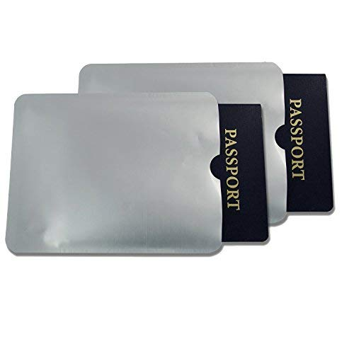 10x Rfid Passport Sleeve Protector Blocking Safety Aluminum Shield Anti Theft Universale 42194p10