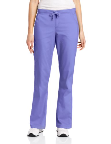 Carhartt Women's Scrubs Ripstop Cargo Flare Pant, French Blue, X-Small