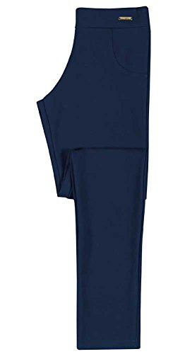Tween Girl Leggings Stretch Pants Teens Pulla Bulla Size 12-14 Years - Navy Blue (Tween Leggings)