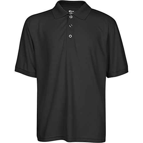 - Premium High Moisture Wicking Polo T Shirts Black L