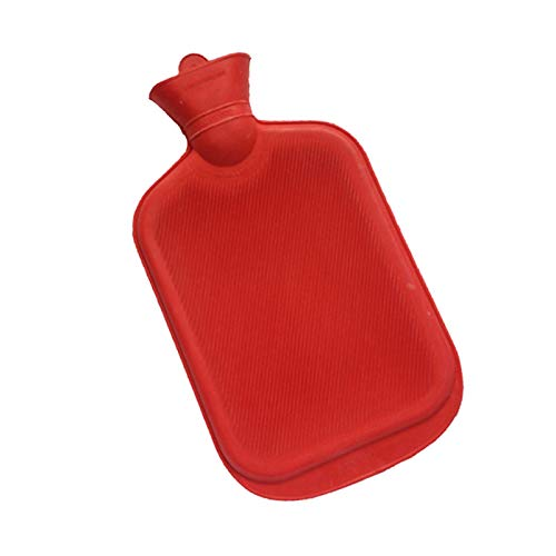 YAO LANMENG 2000ML Rubber Winter Warm Water Bottle Portable Thick Hot Water Bottles Hand Warmer Red