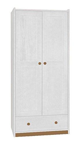 Kleiderschrank 80 Cm Breit Farbe Weiß Amazonde Baumarkt