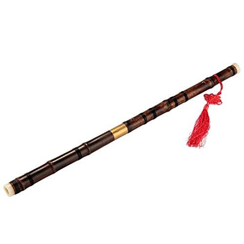 Small-Chipinc - Chinese Bamboo Flute Bawu Yunnan G/F Key Concert Flute Bau Vertical Playing Clarinet Flute Folk Pipe Musical Wind ()