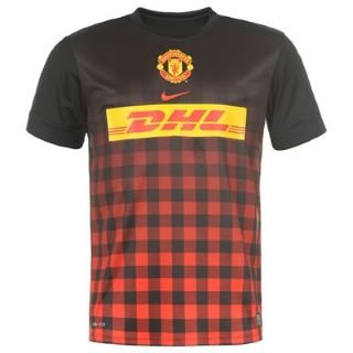 4ed90391a42 Nike Manchester United Pre-Match Top II Men s T-Shirt black challenge red