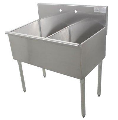 Compartment Square Corner Sink - 8