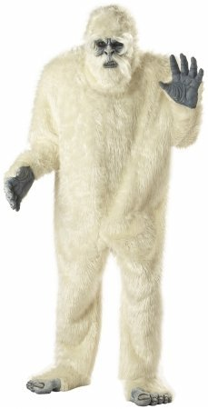 Abominable Snowman Costume - One Size - Chest Size 40-44 (California Costume Size Chart)