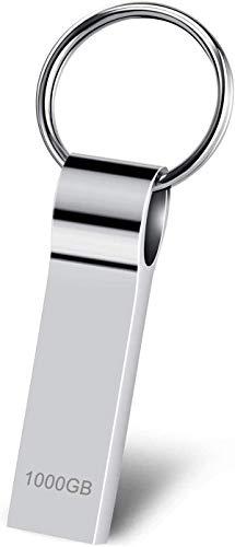 🥇 Kaulery Memoria USB 1TB Pendrive Mental USB Memory Stick con Llavero portátil Impermeable