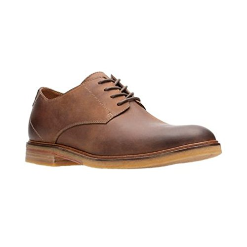 Clarks Mens Clarkdale Moon Suede Oxfords Donkerbruin Leer