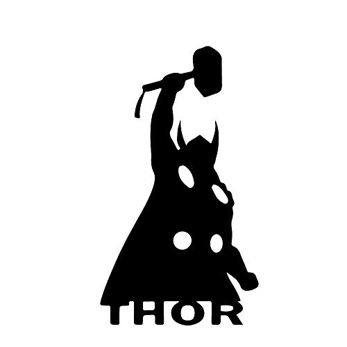 (ANGDEST Thor ICON (Black) (Set of 2) Premium Waterproof Vinyl Decal Stickers for Laptop Phone Accessory Helmet Car Window Bumper Mug Tuber Cup Door Wall Decoration)