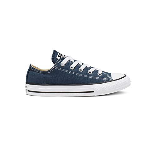 Converse Chuck Taylor All Star Canvas Low Top Sneaker, Navy, 12 M US Little Kid