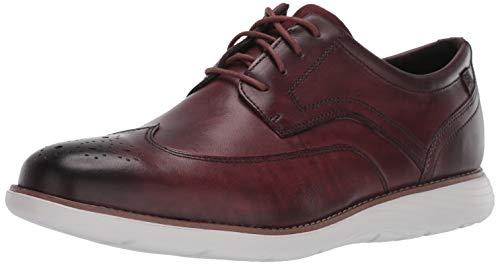 Burgundy Oxfords Shoes (Rockport Men's Garett Wingtip Oxford, Burgundy LE, 10 M US)