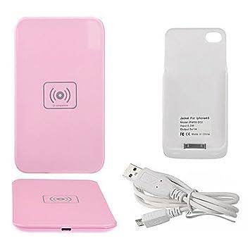WY cargador de rosa pad carga inalámbrica Qi con receptor ...
