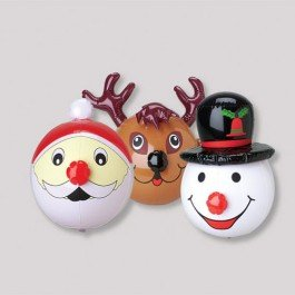 Set of 3 Festive Christmas/Holiday Inflatables (15in. Each) /Assorted/ Snowman/Santa/Reindeer/ Party Decor/ Favor/ Stocking Stuffer ()