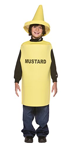 Ketchup Costume Baby (UHC Mustard Outfit Funny Theme Fancy Dress Child Halloween Costume, Child M (7-10))