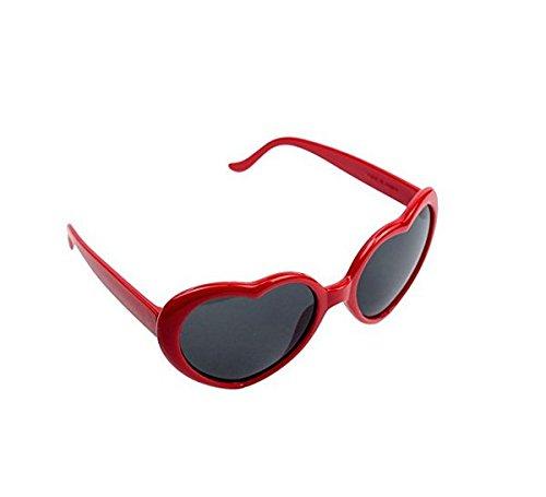 Philna12 Lady soleil cœur red Mode Gris Glasses nbsp;fantaisie de forme Lunettes en de plaque 4wrq4gES