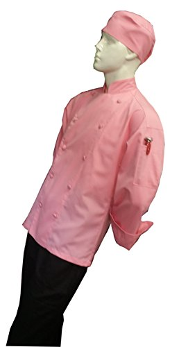 Chefskin Personalized Embroidery Chef Jacket Pink Lightweight -