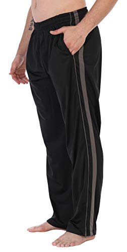 - Gioberti Men's Athletic Track Pants, Black Charcoal, 2X Large