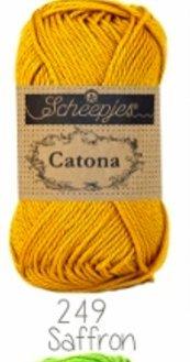 Scheepjes Catona 50gm Mercerized Cotton Yarn (249 Saffron)