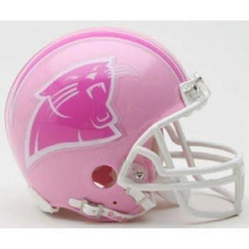 Helmet Replica Panthers Carolina Riddell - Riddell Carolina Panthers Pink Replica Mini Helmet - Carolina Panthers One Size